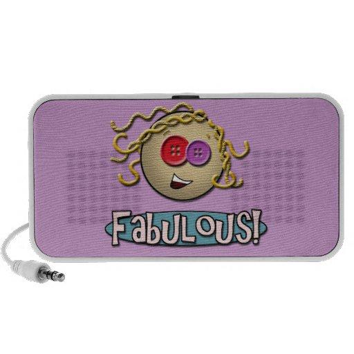 Girl Fabulous ~ Purple Doodle Speaker