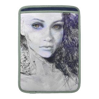 Girl Face Eyes Hair Drawing MacBook Sleeves