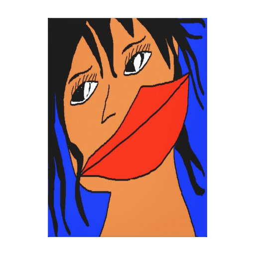 Girl fashion 1 stretched canvas prints