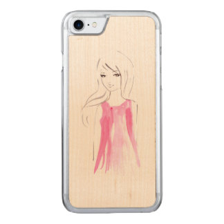 Girl Fashion Illustration Chic Carved iPhone 8/7 Case