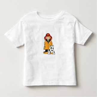 Girl Firefighter with Dalmation Toddler T-Shirt