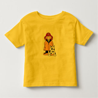 Girl Firefighter With Dalmation Tshirts and Gifts