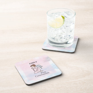 Girl, First Communion Angel Coaster