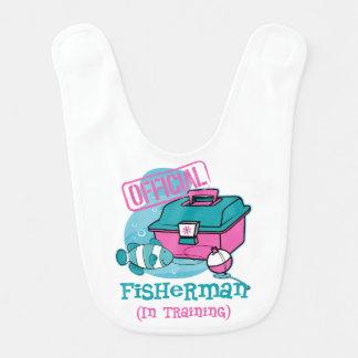Girl Fisherman In Training Bib