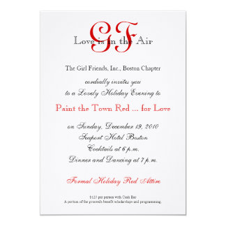Girl Friends Night Out Invitations Red 2