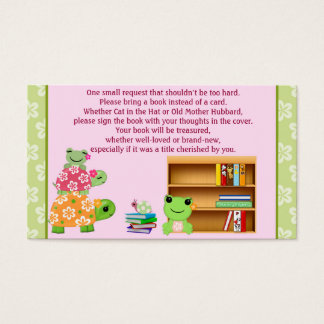 Girl Frog Book Requests Instead of a Card insert