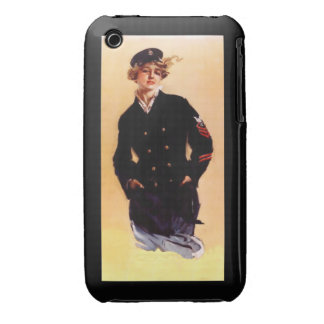 """Girl from """"I Want You For The Navy"""" Poster 1917 iPhone 3 Covers"""