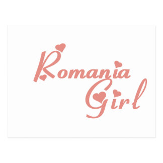 Girl from Romania Postcard