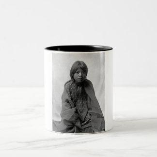 Girl from Taos Pueblo Two-Tone Coffee Mug