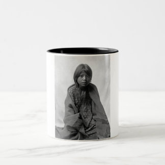 Girl from Taos Pueblo Two-Tone Mug