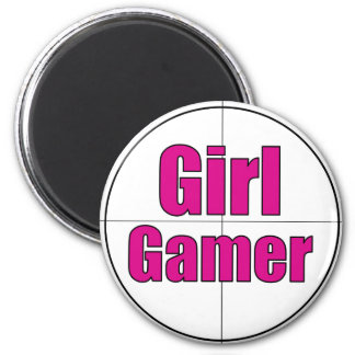 Girl Gamer 6 Cm Round Magnet