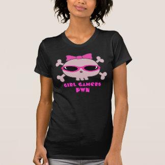 Girl Gamers pwn Skull With Sunglasses T-Shirt