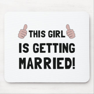 Girl Getting Married Mouse Pad