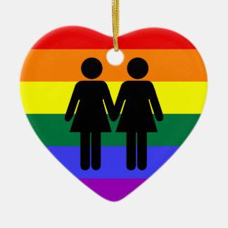 Girl + Girl Rainbow Ornament
