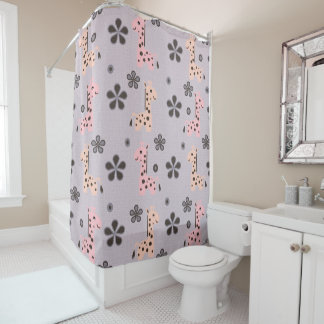 GIRL GIRRAFE Playland Shower Curtain