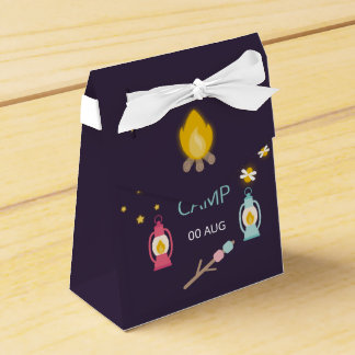 Girl Glamping Birthday Party personalised Wedding Favour Box