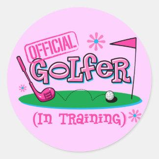 Girl Golfer In Training Stickers