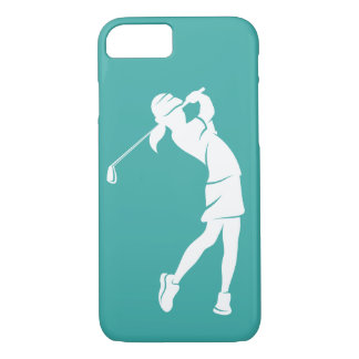 Girl Golfer Swinging an Iron iPhone 8/7 Case