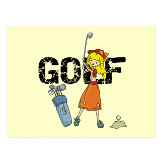 Girl Golfer Tshirts and Gifts Postcard