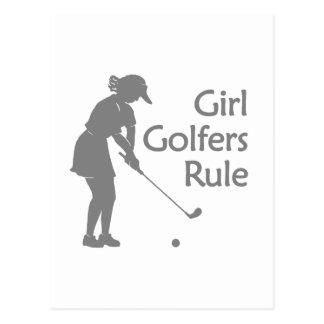 Girl Golfers Rule Postcard