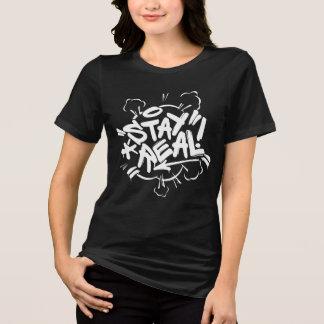 Girl Graffiti: Stay Real Streetwear T-Shirt