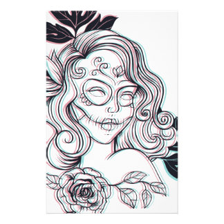 girl graphic illustration stationery