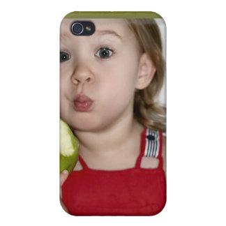 Girl & Green Apple iPhone 4 Cases