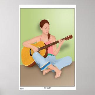 Girl+Guitar Poster
