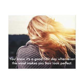 Girl Hair in wind Canvas Canvas Print