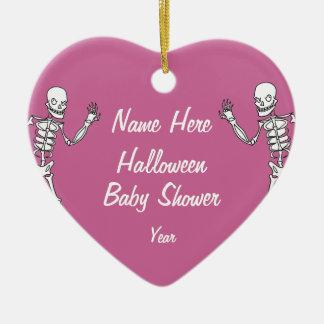Girl Halloween Skeleton Baby Shower Ornaments