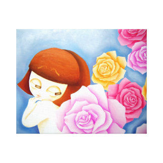 Girl Hari canvas Stretched Canvas Print