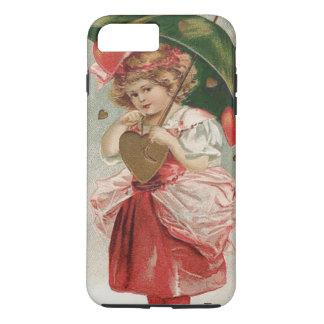 Girl Heart Umbrella Rain Shower iPhone 7 Plus Case