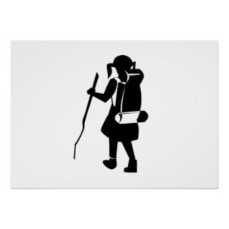 Girl Hiking Print