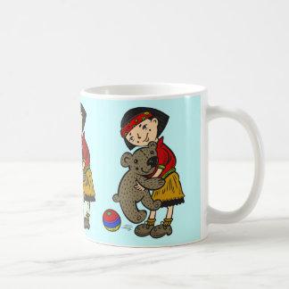 Girl Holding Teddy Bear Coffee Mugs