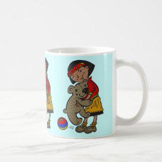 Girl Holding Teddy Bear Coffee Mug