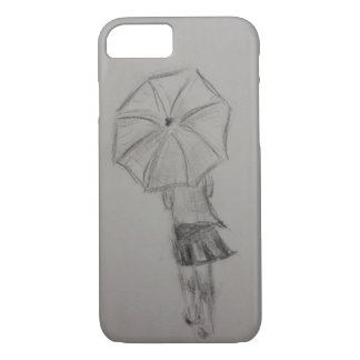 Girl holding umbrella phone case