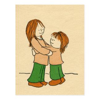 Girl Hug Postcard