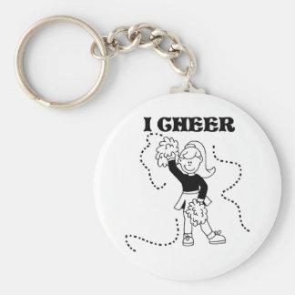 Girl I Cheer Basic Round Button Key Ring