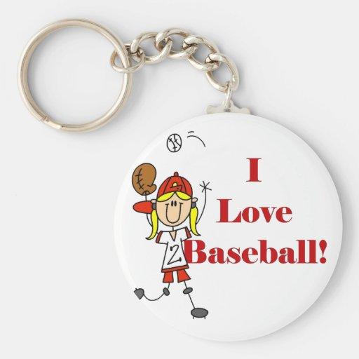 Girl I Love Baseball Tshirts and Gifts Keychain