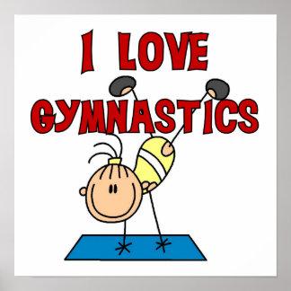 Girl I Love Gymnastics Poster