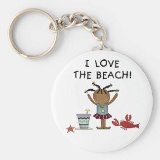 Girl I Love the Beach Key Ring