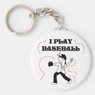 Girl I Play Baseball Keychain