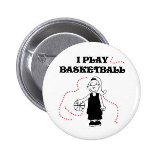 Girl I Play Basketball 6 Cm Round Badge