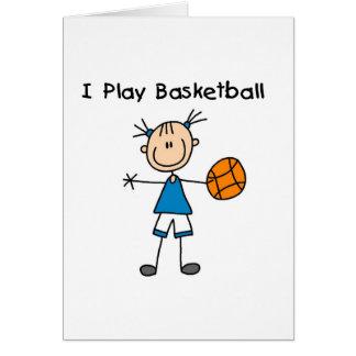 Girl I Play Basketball Card