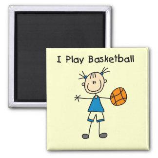 Girl I Play Basketball Tshirts and Gifts Magnet
