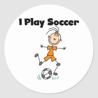 Girl I Play Soccer Classic Round Sticker