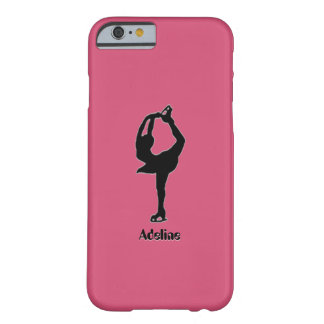 Girl Ice Skating Figure Skating Personalized Barely There iPhone 6 Case