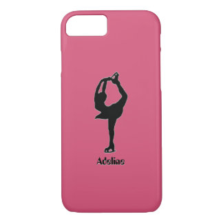 Girl Ice Skating Figure Skating Personalized iPhone 8/7 Case