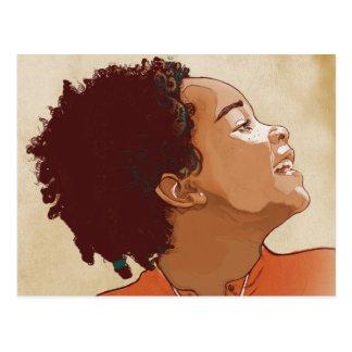 Girl Illustration Postcard