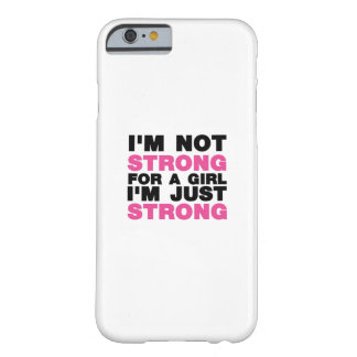 Girl I'm Just Strong Womens Girl Black Barely There iPhone 6 Case